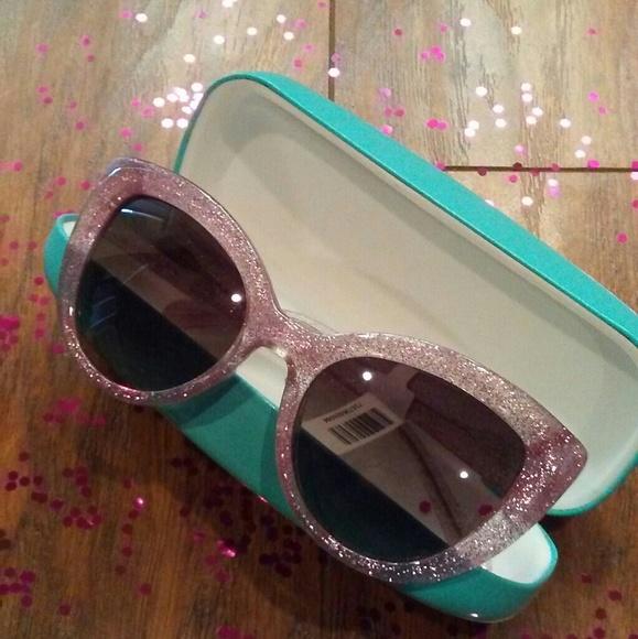 b58437a5925 ♤Kate Spade Labrenda Pink Glitter Sunglasses NIB!